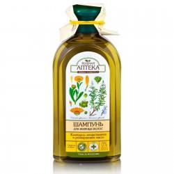 Шампунь, Зеленая аптека Календула и розмариновое масло для жирных волос 350 мл